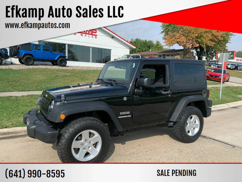 2012 Jeep Wrangler for sale at Efkamp Auto Sales LLC in Des Moines IA