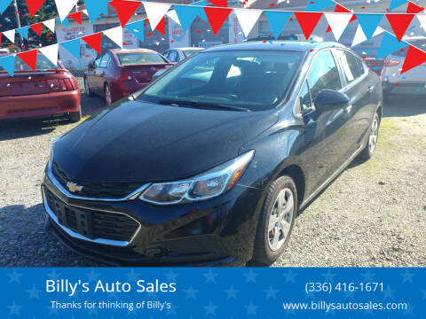 2018 Chevrolet Cruze for sale at Billy's Auto Sales in Winston Salem NC