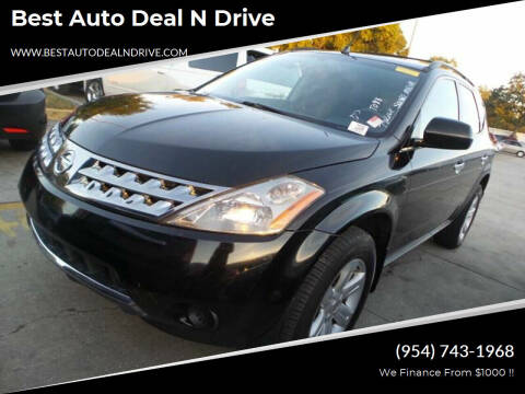 2006 Nissan Murano for sale at Best Auto Deal N Drive in Hollywood FL