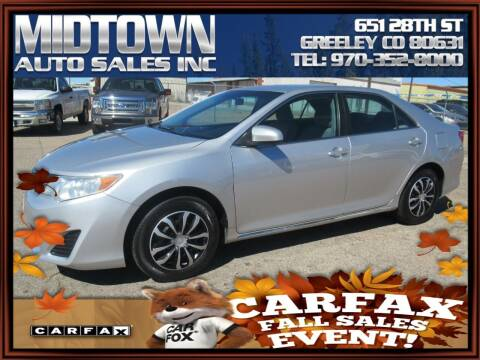 2012 Toyota Camry for sale at MIDTOWN AUTO SALES INC in Greeley CO