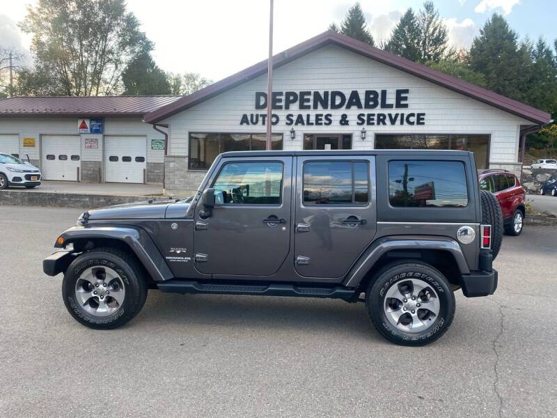 2016 Jeep Wrangler Unlimited for sale at Dependable Auto Sales and Service in Binghamton NY