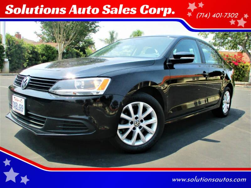 2011 Volkswagen Jetta for sale at Solutions Auto Sales Corp. in Orange CA