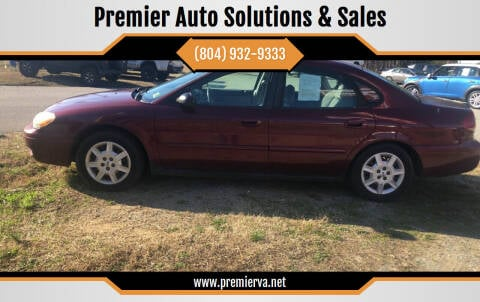 2005 Ford Taurus for sale at Premier Auto Solutions & Sales in Quinton VA