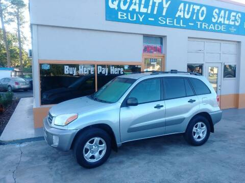 2003 Toyota RAV4 for sale at QUALITY AUTO SALES OF FLORIDA in New Port Richey FL