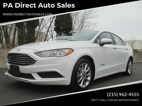 2017 Ford Fusion Hybrid for sale at PA Direct Auto Sales in Levittown PA