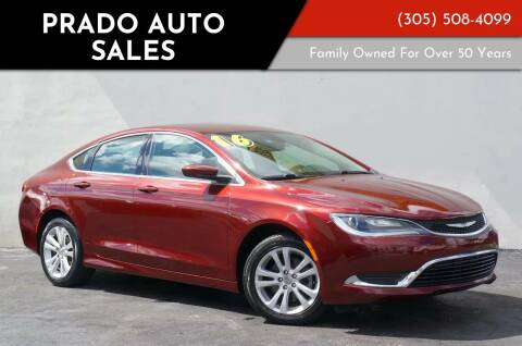 2016 Chrysler 200 for sale at Prado Auto Sales in Miami FL