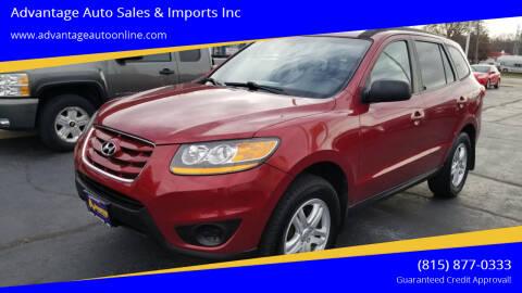 2010 Hyundai Santa Fe for sale at Advantage Auto Sales & Imports Inc in Loves Park IL