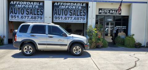2002 Chevrolet Tracker for sale at Affordable Imports Auto Sales in Murrieta CA