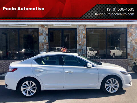 2017 Acura ILX for sale at Poole Automotive in Laurinburg NC