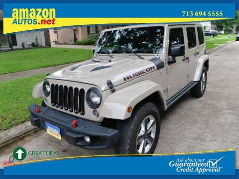 2016 Jeep Wrangler Unlimited for sale at Amazon Autos in Houston TX