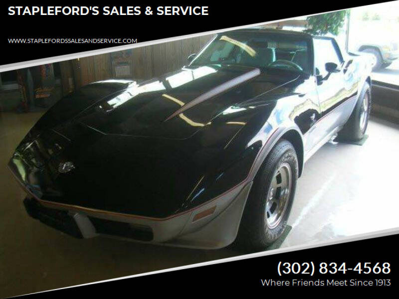 1978 Chevrolet Corvette for sale at STAPLEFORD'S SALES & SERVICE in Saint Georges DE
