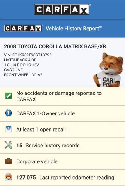 2008 Toyota Matrix for sale at DEALS ON WHEELS in Newark NJ