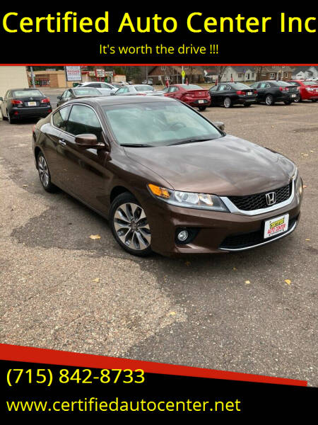 2013 Honda Accord for sale at Certified Auto Center Inc in Wausau WI