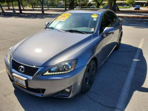 2012 Lexus IS 250 for sale at ALL CREDIT AUTO SALES in San Jose CA