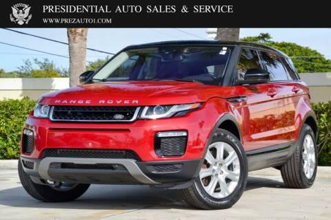 2016 Land Rover Range Rover Evoque for sale at Presidential Auto  Sales & Service in Delray Beach FL