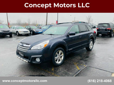 2013 Subaru Outback for sale at Concept Motors LLC in Holland MI