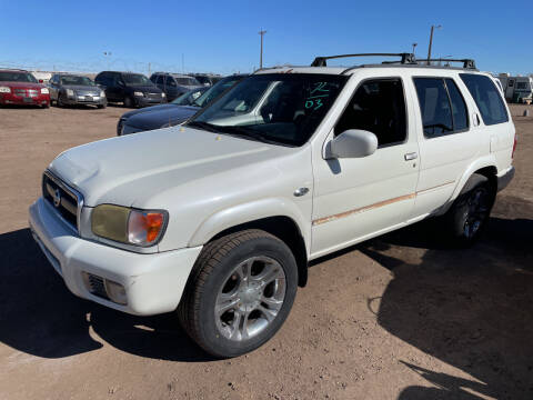 2003 Nissan Pathfinder for sale at PYRAMID MOTORS - Fountain Lot in Fountain CO