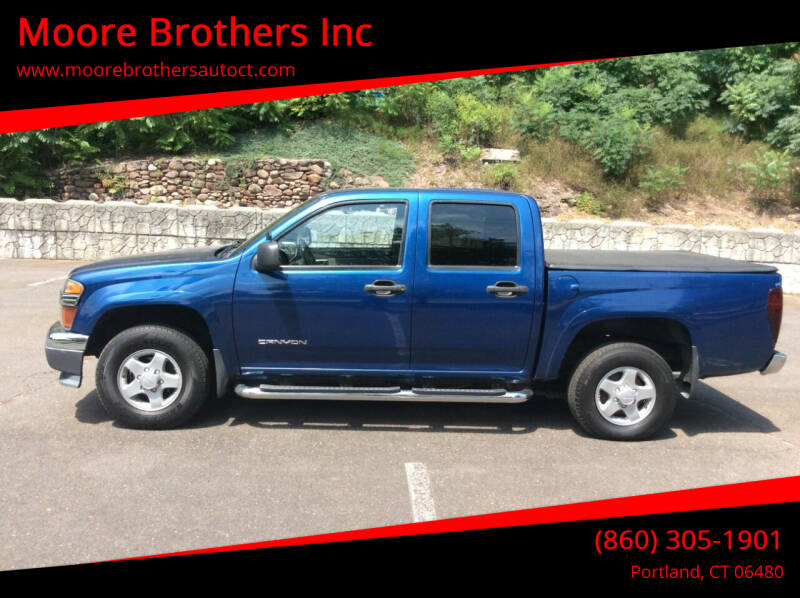 2005 GMC Canyon for sale at Moore Brothers Inc in Portland CT