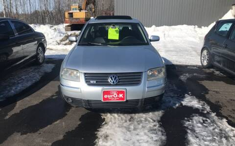 2002 Volkswagen Passat for sale at eurO-K in Benton ME