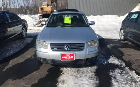 2002 Volkswagen Passat for sale at eurO-K in Benton ME