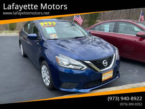 2016 Nissan Sentra for sale at Lafayette Motors 2 in Andover NJ