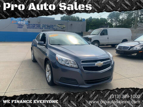 2013 Chevrolet Malibu for sale at Pro Auto Sales in Lincoln Park MI