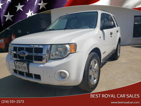 2008 Ford Escape for sale at Best Royal Car Sales in Dallas TX