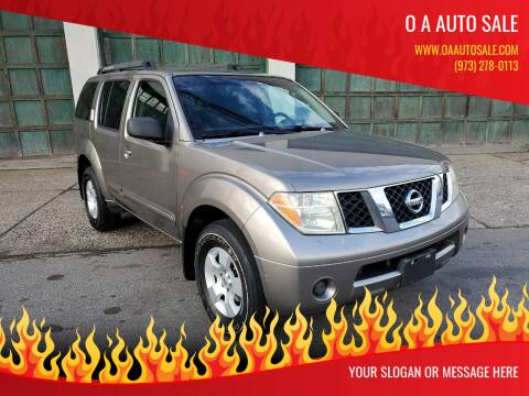 2006 Nissan Pathfinder for sale at O A Auto Sale in Paterson NJ