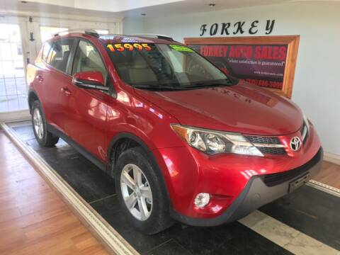 2013 Toyota RAV4 for sale at Forkey Auto & Trailer Sales in La Fargeville NY