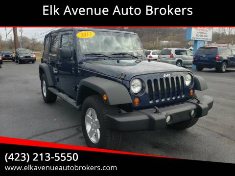 2013 Jeep Wrangler Unlimited for sale at Elk Avenue Auto Brokers in Elizabethton TN