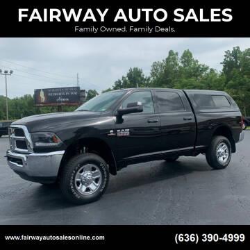 2018 RAM Ram Pickup 2500 for sale at FAIRWAY AUTO SALES in Washington MO
