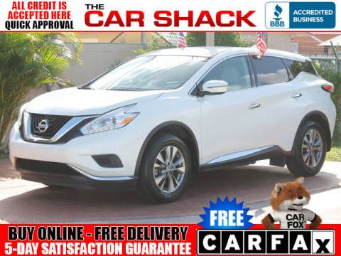2017 Nissan Murano for sale at The Car Shack in Hialeah FL