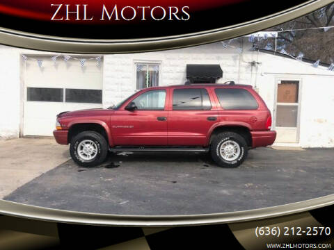 1999 Dodge Durango for sale at ZHL Motors in House Springs MO