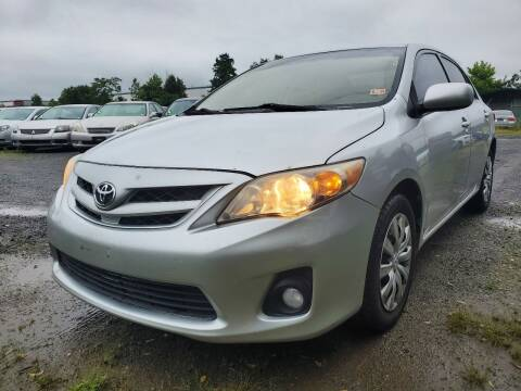 2012 Toyota Corolla for sale at M & M Auto Brokers in Chantilly VA