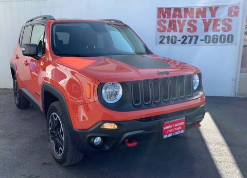 2015 Jeep Renegade for sale at Manny G Motors in San Antonio TX