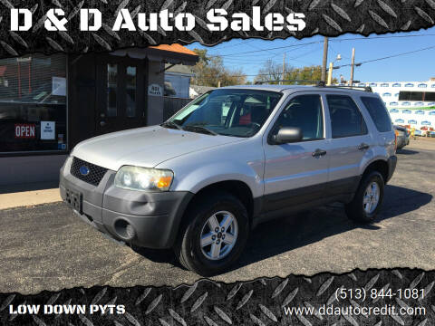 2007 Ford Escape for sale at D & D Auto Sales in Hamilton OH
