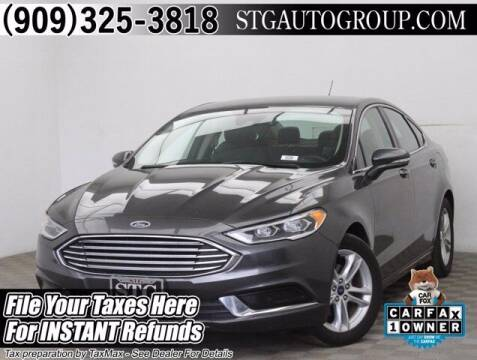 2018 Ford Fusion for sale at STG Auto Group in Montclair CA