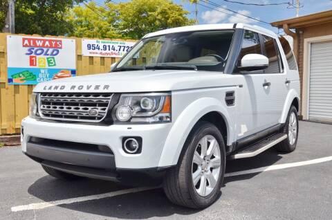 2016 Land Rover LR4 for sale at ALWAYSSOLD123 INC in Fort Lauderdale FL