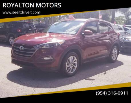 2016 Hyundai Tucson for sale at ROYALTON MOTORS in Plantation FL