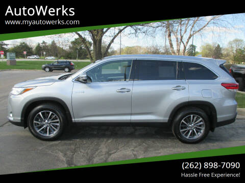 2019 Toyota Highlander Hybrid for sale at AutoWerks in Sturtevant WI