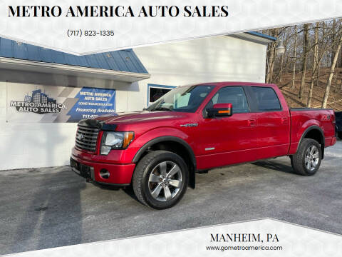 2012 Ford F-150 for sale at METRO AMERICA AUTO SALES of Manheim in Manheim PA