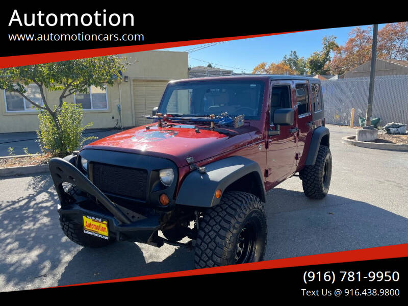 2008 Jeep Wrangler Unlimited for sale at Automotion in Roseville CA
