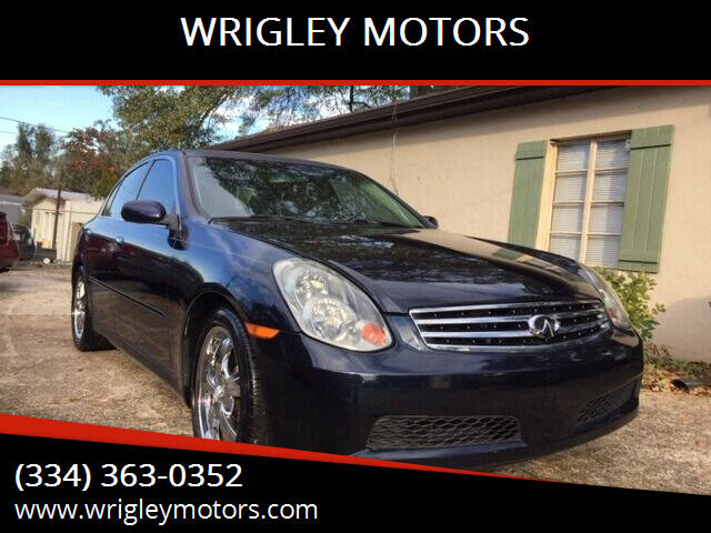2005 Infiniti G35 for sale at WRIGLEY MOTORS in Opelika AL