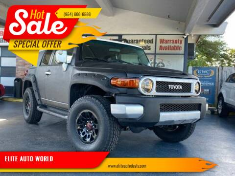 2008 Toyota FJ Cruiser for sale at ELITE AUTO WORLD in Fort Lauderdale FL