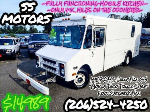 1987 GMC Value Van P3500 Taco Truck Style Meal Prep for sale at SS MOTORS LLC in Edmonds WA