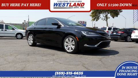 2015 Chrysler 200 for sale at Westland Auto Sales on 7th in Fresno CA