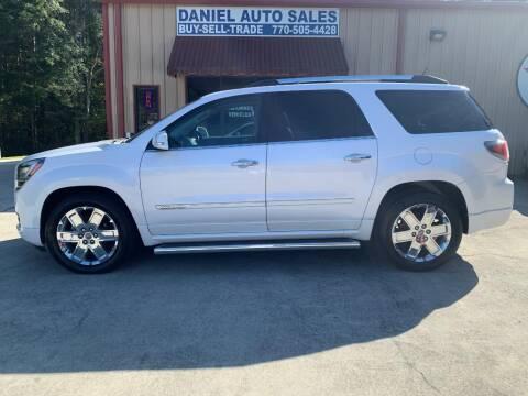 2016 GMC Acadia for sale at Daniel Used Auto Sales in Dallas GA