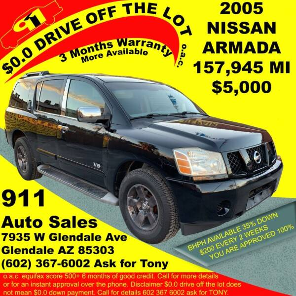 2005 Nissan Armada for sale at 911 AUTO SALES LLC in Glendale AZ