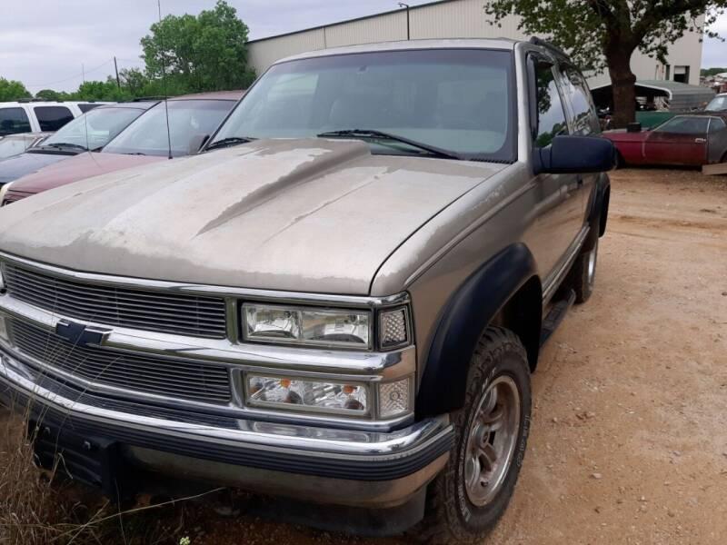 1999 Chevrolet Tahoe for sale at KK Motors Inc in Graham TX