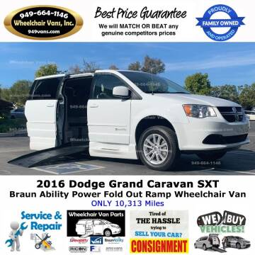 2016 Dodge Grand Caravan for sale at Wheelchair Vans Inc - New and Used in Laguna Hills CA